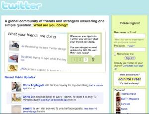 Twitter UI 01/2007